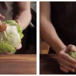 Rens dit Iceberg salathovede på 3 sekunder, med dette unikke trick!