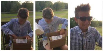 Dreng fik solbriller i fødselsdagsgave – de skulle vise sig at ændre hans liv!