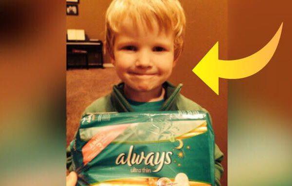 Sønnen kommer med utrolig morsom kommentar til sin mors bind - hele butikken begyndte at skraldgrine