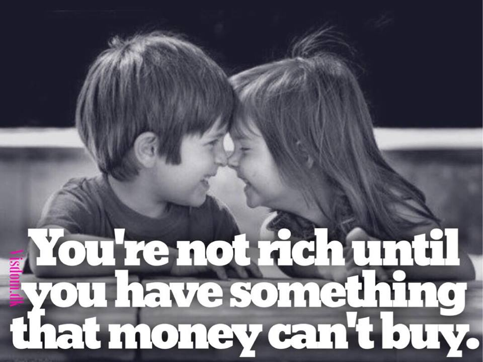 you're not rich until..
