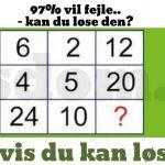 97 % vil fejle.. – Kan du løse den? DEL hvis du kan løse den!