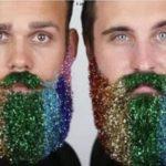 Ny trend: Pynt dit skæg med glitter til jul og nytår