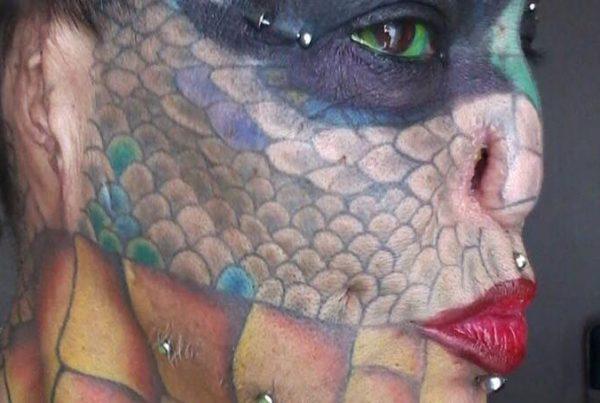 Evas store drøm var at ligne en drage - nu er hendes ønske gået i opfyldelse