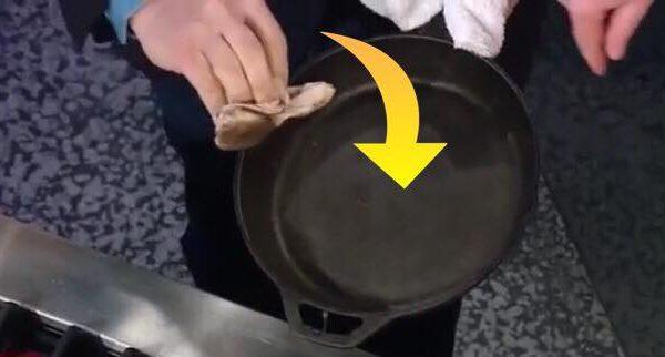 Tip fra eksperterne: sådan gør du din støbejernspande ren på blot 10 sekunder!
