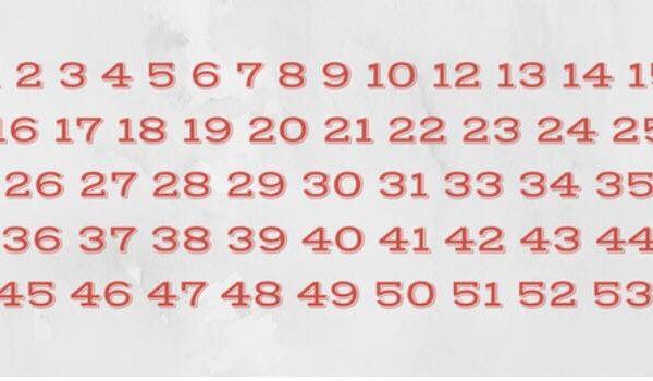 Måske ligner dette en helt almindelig talrække - kan du se fejlen på det første kig på billedet?