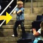 Lille dreng stiller sig ud midt på trappen og begynder at danse under koncerten – få sekunder senere er han publikums midtpunkt!