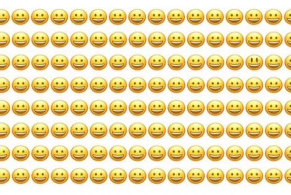 1 smiley ser anderledes ud - kan du finde den på under 10 sekunder?