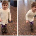 Lille pige tror hun er med ude i lufthavnen for at se på fly – så får hun sit livs overraskelse