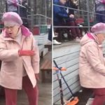 """Ældre kvinde hører bekendt melodi i offentligheden, og begynder at danse – """"Hun må have været danser i sine unge dage"""""""