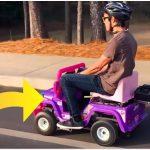 Det sker der når man kommer en 250 kubik motor i en elbil til børn – videoen har næsten 1,5 millioner visninger!