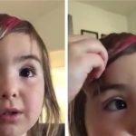 Moren opdager at hendes datter selv har klippet sit pandehår – pigens kommentar er fantastisk!