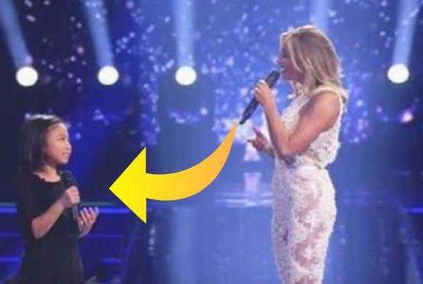Sangerinden spurgte om den lille pige ville synge en sang med hende - resultatet gav ALLE gåsehud!
