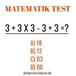 Matematik test – kan du regne den ud?