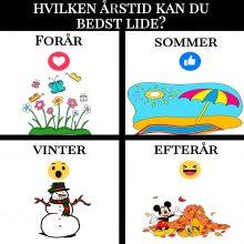 Hvilken årstid kan du bedst lide?