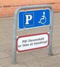 PS! Dovenskab er ikke et handicap