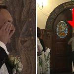 Pludselig stoppes vielsen af en stemme bagerst i kirken – brudgommen kan ikke holde sine tårer tilbage da han ser hvad der sker!