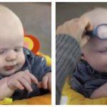 Baby er stort set blind – se hans reaktion, når han ser sin mor for første gang.