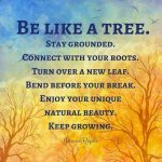 Be like a Tree..