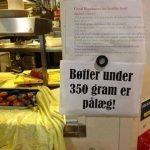 Bøffer under 350 gram er pålæg er du enig i dette?