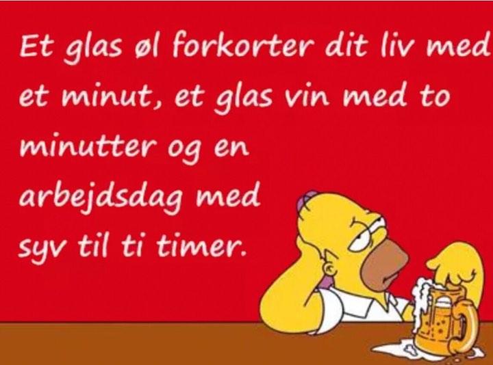 Et glas øl forkorter dit liv med et minut