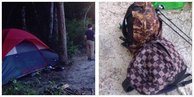 Far og søn var på campingtur alene i det fri - pludseligt skulle de opleve noget, der ændrede hele deres tur.
