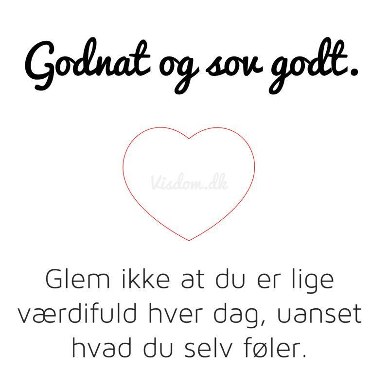 søde godnat citater Godnat og sov godt..   find flere citater her på .visdom.dk søde godnat citater