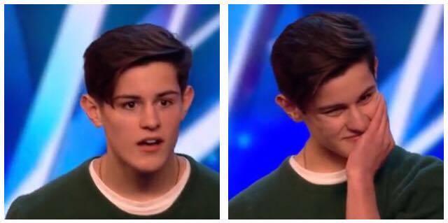 Han går på scenen i 'Britain's Got Talent'  - pludseligt råber en fra publikum til ham.