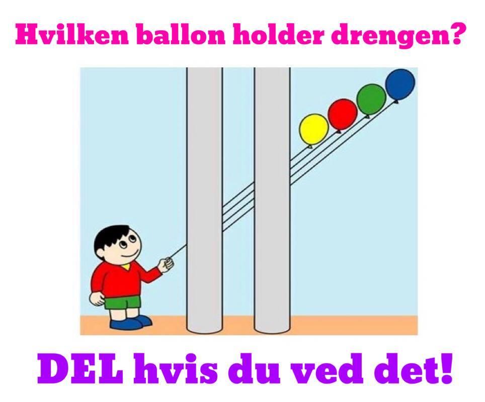 Hvilken ballon holder drengen
