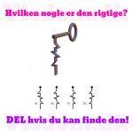 Hvilken nøgle er den rigtige..