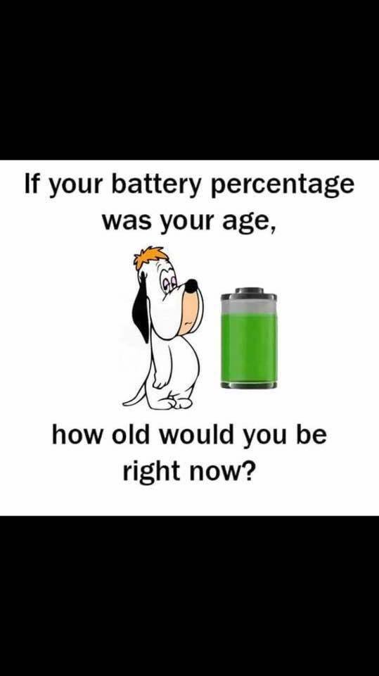 If your battery percentage was your age