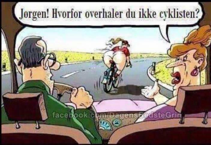 Jørgen hvorfor overhaler du ikke cyklisten