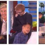 Dreng synger en sang af Ed Sheeran foran Ellen – Pludseligt står hans idol bag ham!