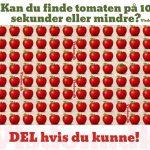 Kan du finde tomaten på 10 sekunder eller mindre?