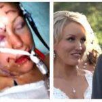 """Kvinde stukket 32 gange i ansigtet af ekskæreste – se så 6 år efter hvem hun siger """"ja"""" til på den store dag!"""