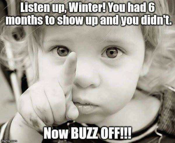 Listen up winter you had 6 months to show up and you didn't
