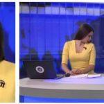 Nyhedsværten sidder i en direkte tv-udsendelse – pludseligt får hun uventet besøg!