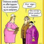 Doktoren ønsker en afføringsprøve en urinprøve og en sædprøve..