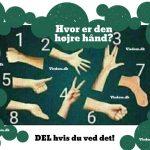 Hvor er den højre hånd? – DEL hvis du ved det!