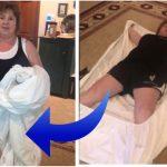 Mormoren viser et genialt trick til hvordan man folder et stræklagen sammen – metoden får alle til at grine højlydt!