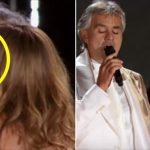 Andrea Bocelli får selskab af Celine Dion på scenen: Det hun hvisker har fået over 60 millioner til at få kuldegysninger!