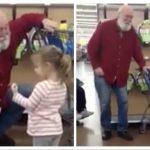 3-årige pige tror manden i supermarked er julemanden – hans geniale reaktion har fået ALLE til juble!