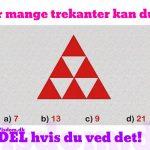 Hvor mange trekanter kan du se?