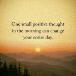 One small positive..